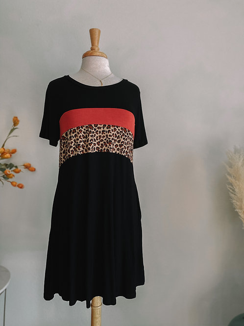 Color Black T Shirt Dress
