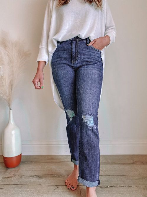 Catherine High Rise Slim Fit Ankle Skinny (Lucrative Wash)