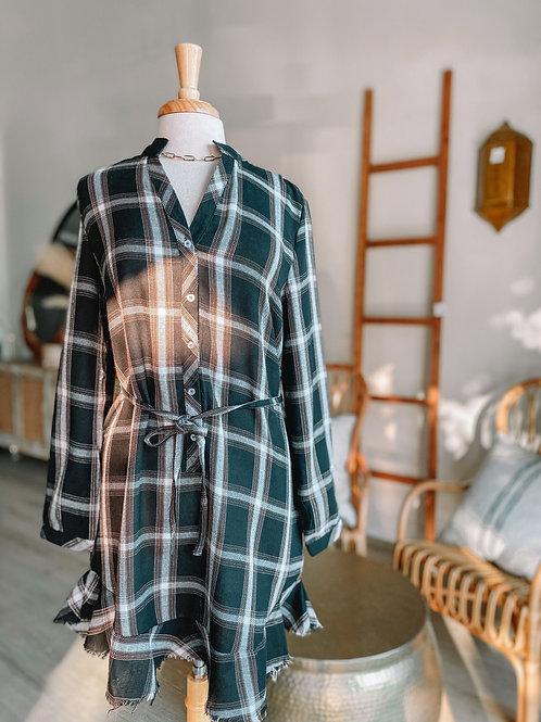 Flannel Tie Dress