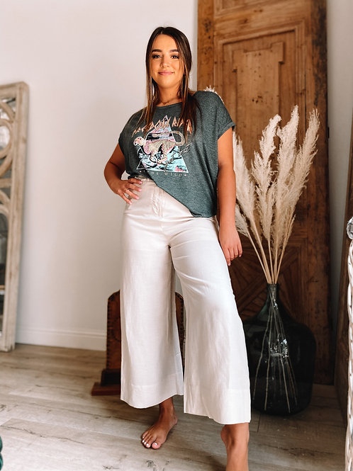 Gabriella Wide Leg Flare (Beige)
