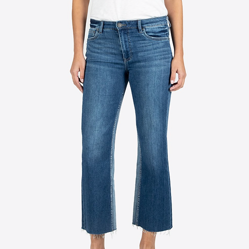 KUT Kelsey High Rise Ankle Flare (Overtake Wash)