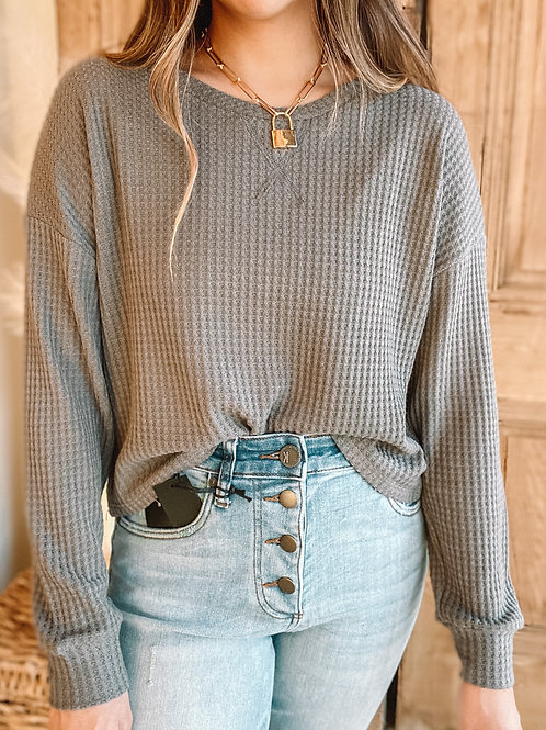 Holland Waffle Knit Long Sleeve