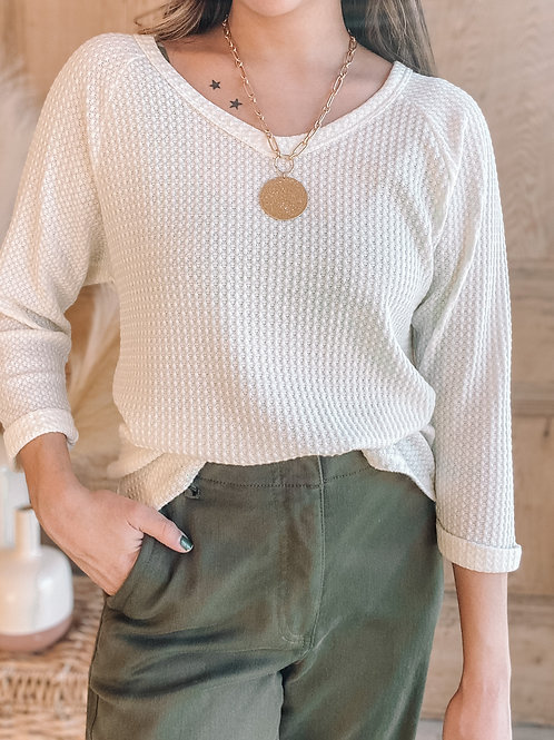 Arden Waffle Knit Top