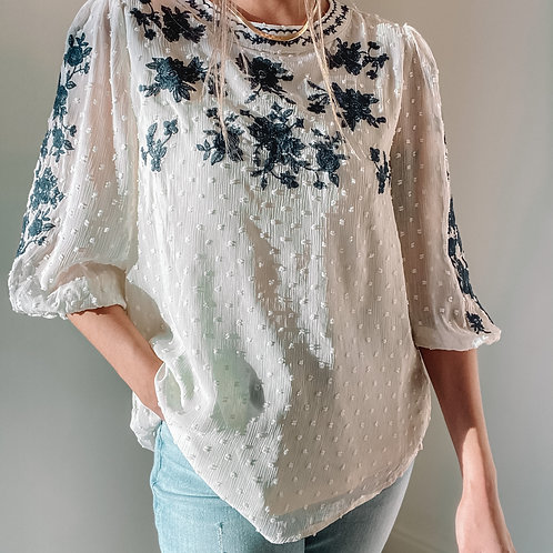 Gemma Embroidered Top