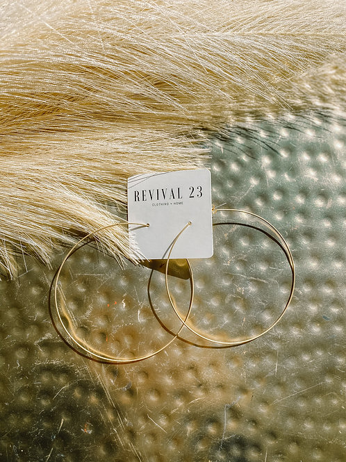 Bliss Gold Tone Hoops