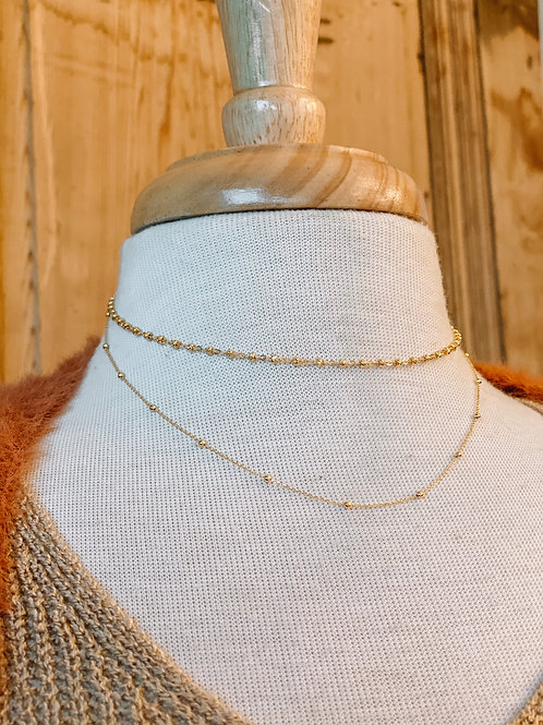 Dainty Two Tier Necklace