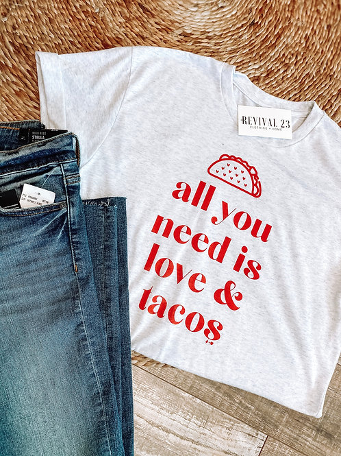 Love & Tacos Graphic Tee