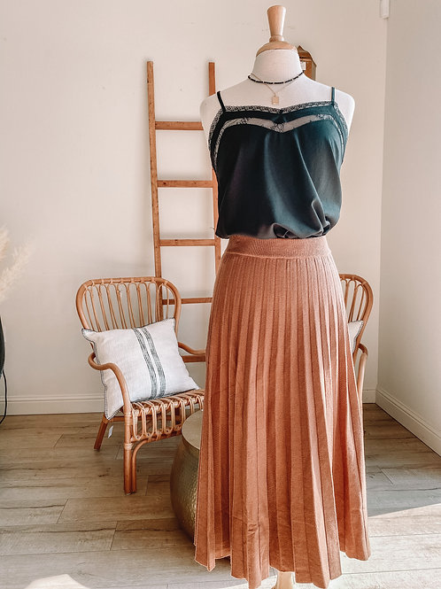 Fawn Ribbed Skirt