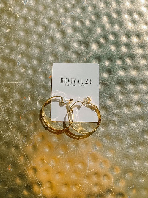 Dainty Gold Tone Hoops