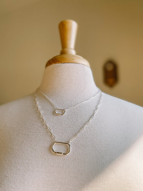 Two Layer Silver Tone Necklace