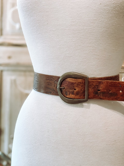 Storytelling Leather Belt