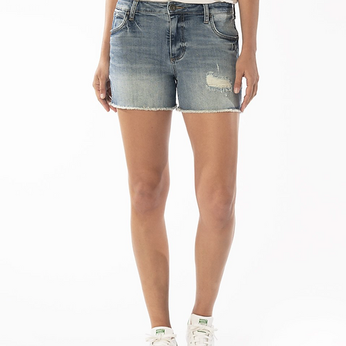 Gidget High Rise Fray Short (Traveler Wash)