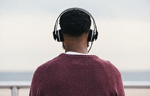 Man Listening to Headphones
