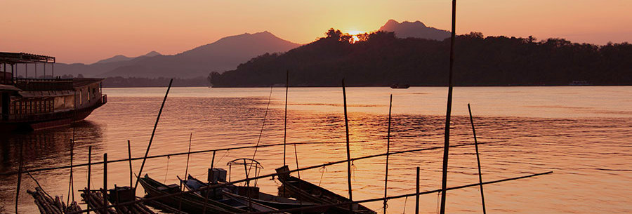Zicht op de Mekong Rivier - Laos