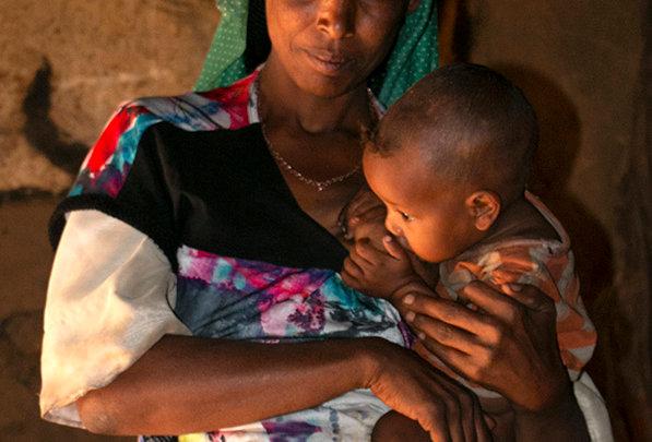Moeder en kind uit Ethiopië