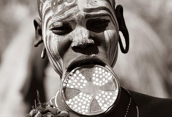 Tribale dame - Ethiopië
