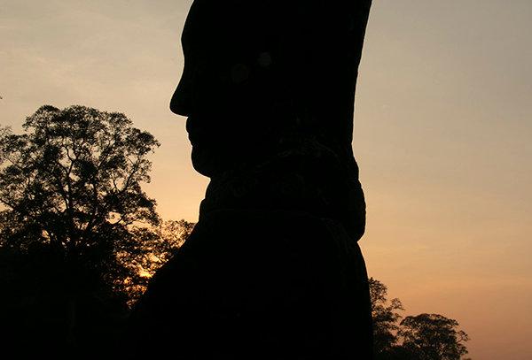 Boeddahoofd in Cambodia