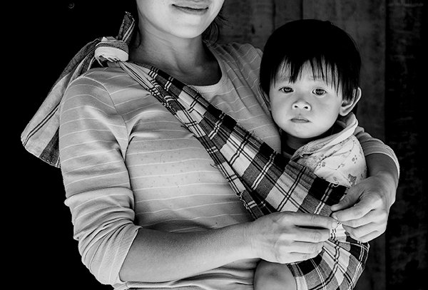 Trotse moeder en kind