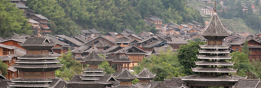 Zhaoxing oude stad in China