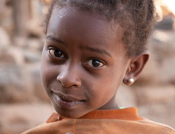 Onschuldig meisje in Ethiopië