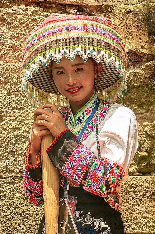 Chinese lady at Huangping