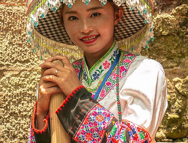 Chinese dame uit Huangping