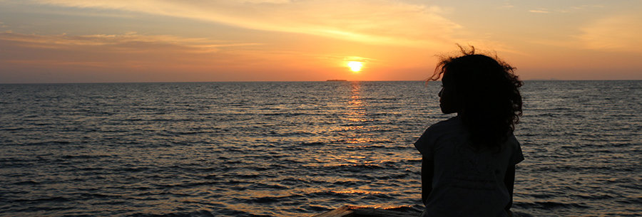 Zonsondergang in Raja Ampat