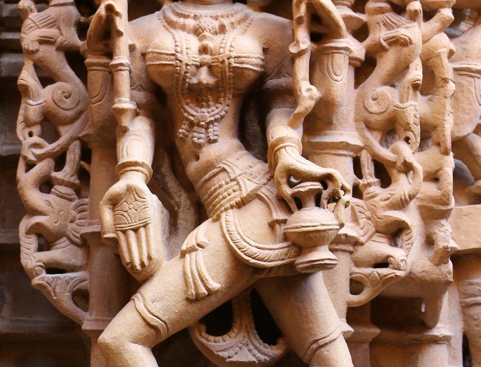 Tempel relief uit Jaipur