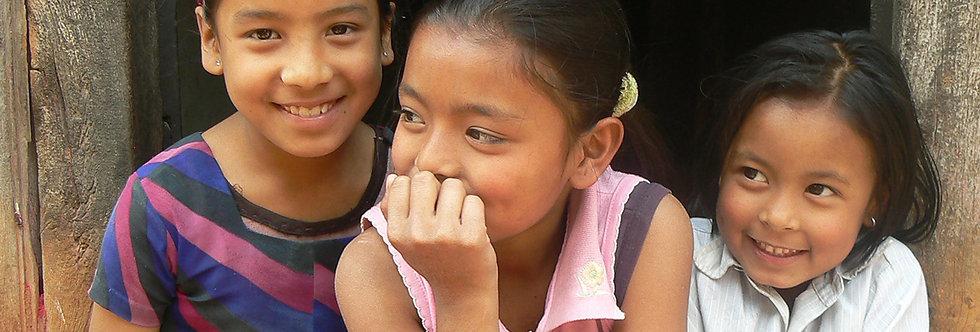 Lachende gezichten in Nepal