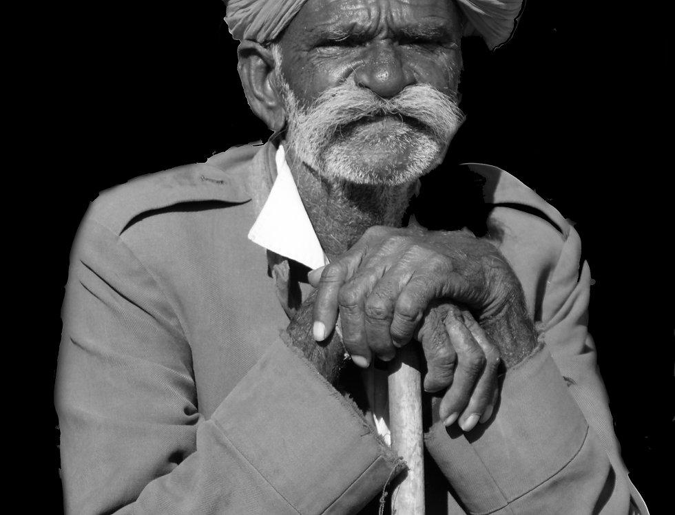Indiër in de straten van Jaipur