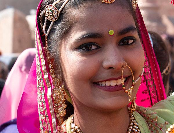 Jongedame uit Rajasthan