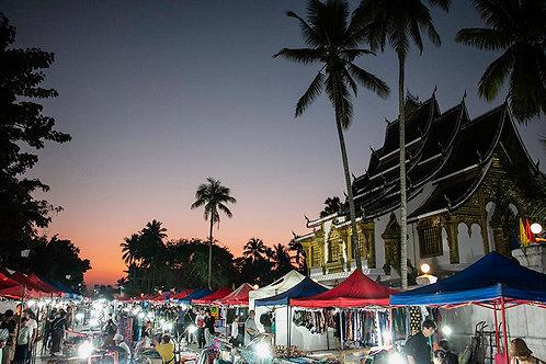 Night market at Luang Prabang - Laos