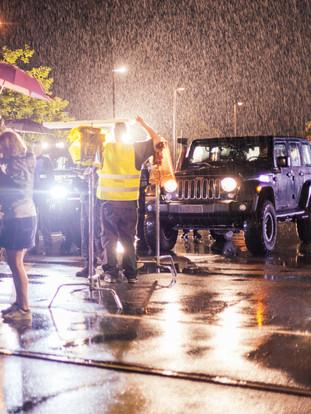 Nachtshoot bei Regen, Honsellbrücke