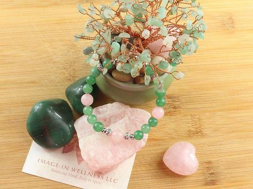 Green Aventurine and Rose Quartz