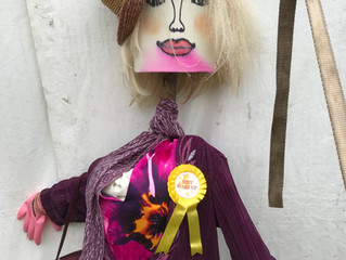 Scarecrows & Dogs at the Flower Show