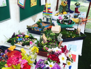 Things to do this summer holiday - children's entries for the flower show!