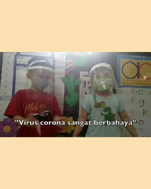 Tepuk Virus Corona by Ben's daycare students