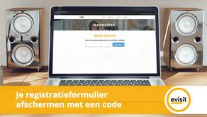Je registratieformulier afschermen met een code