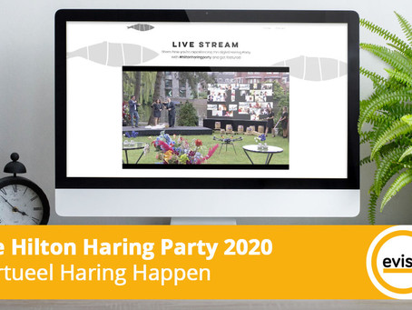 Virtueel Haring Happen tijdens de Hilton Haring Party 2020