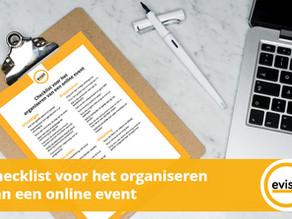 Checklist voor het organiseren van een online event