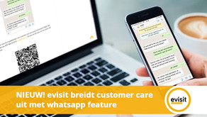 evisit breidt customer care uit met whatsapp feature