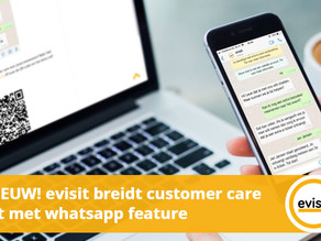 evisit breidt customer care uit met whatsapp feature