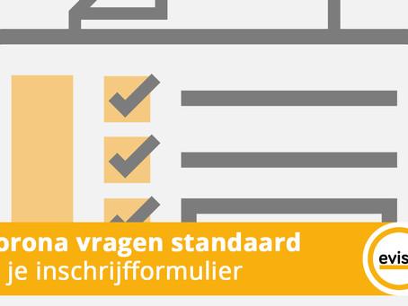 Gezondheidscheck standaard in registratieformulier