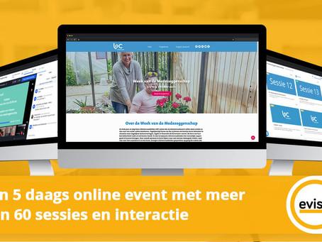 Een 5 daags online event met meer dan 60 sessies en interactie.
