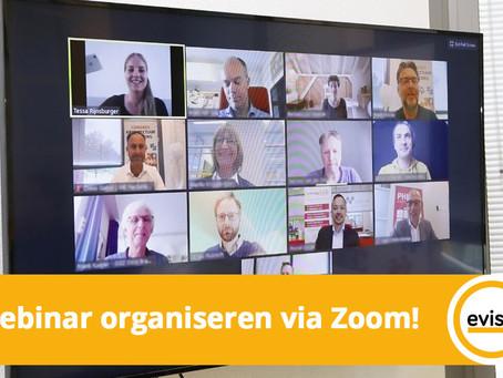 Webinar organiseren via Zoom!