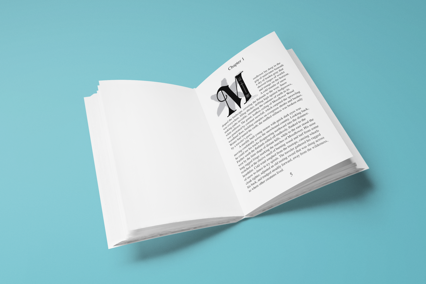 mockup-of-an-open-book-on-a-solid-color-