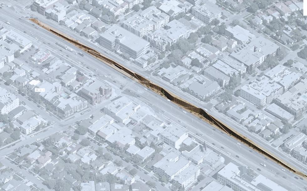 Santa Monica Blvd. Retaining Wall