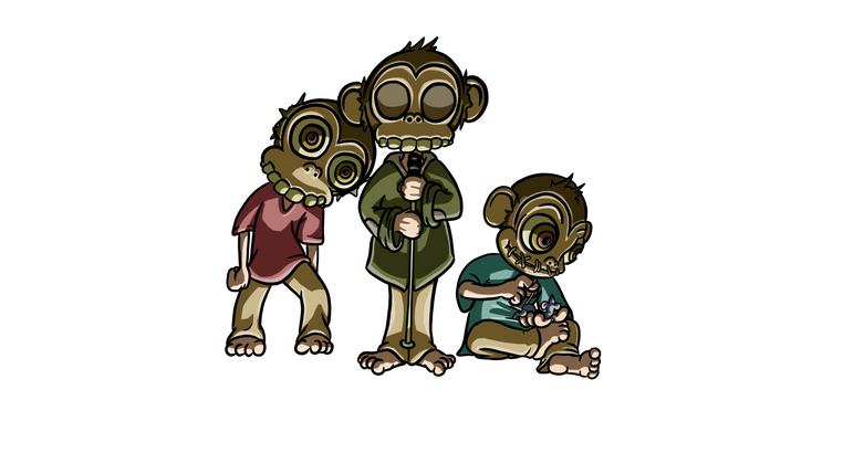 Monkey Brothers, personnages du jeu Arbi & Scrap