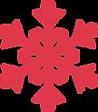 flocon de neige rouge