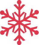 rote Schneeflocke